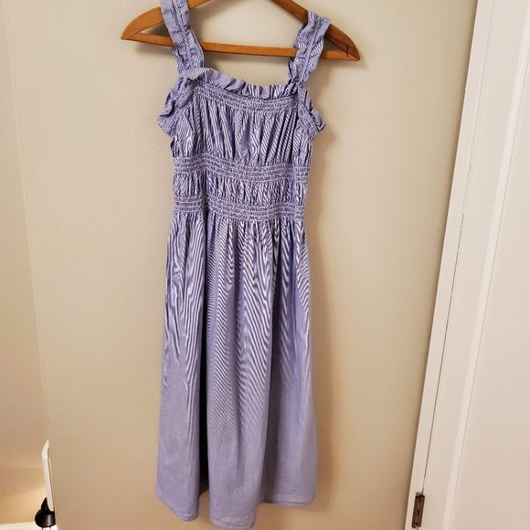 Who What Wear Dresses & Skirts - Who What Wear striped smocked sundress Size M EUC